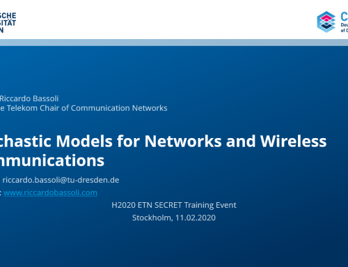 Stochastic Models for Networks and Wireless Communications