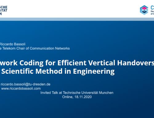 Network Coding for Efficient Vertical Handovers – The Scientific Method in Engineering